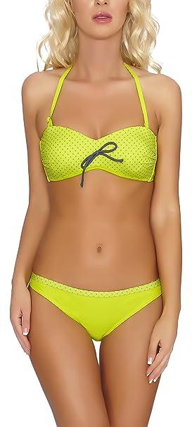 VERANO Bikini Bañadores Trajes de Baño Conjunto Tops Sujetador y Bragas Ropa Mujer P14L1 (Limón
