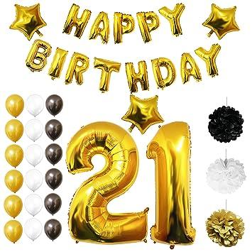 Amazoncom 21st Birthday Balloons Birthday Decoration Kit by Belle