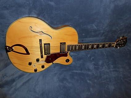 Rare Vintage dearmond x-155 Full hueca cuerpo de madera de arce guitarra eléctrica –