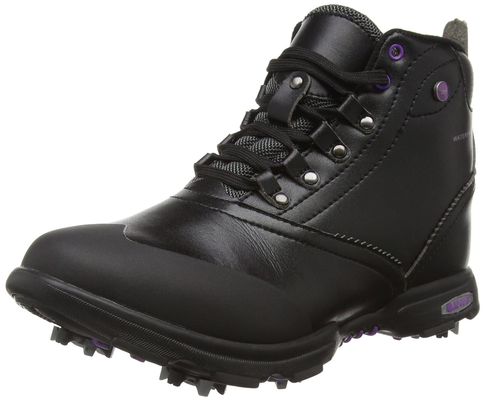 Hi-Tec Women's Dri-Tec Classic Mid WP Golf Boots - US 8.5 - Black/Purple by Hi-Tec