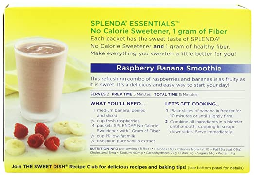Amazon Splenda Essentials No Calorie Sweetener With Fiber 80