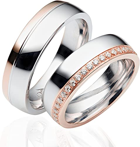 Wedding Ringswedding rings from 925 silver 6 mm wide