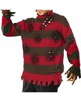 Forum Novelties Men's A Nightmare On Elm Street Deluxe Plus Size Freddy Sweater