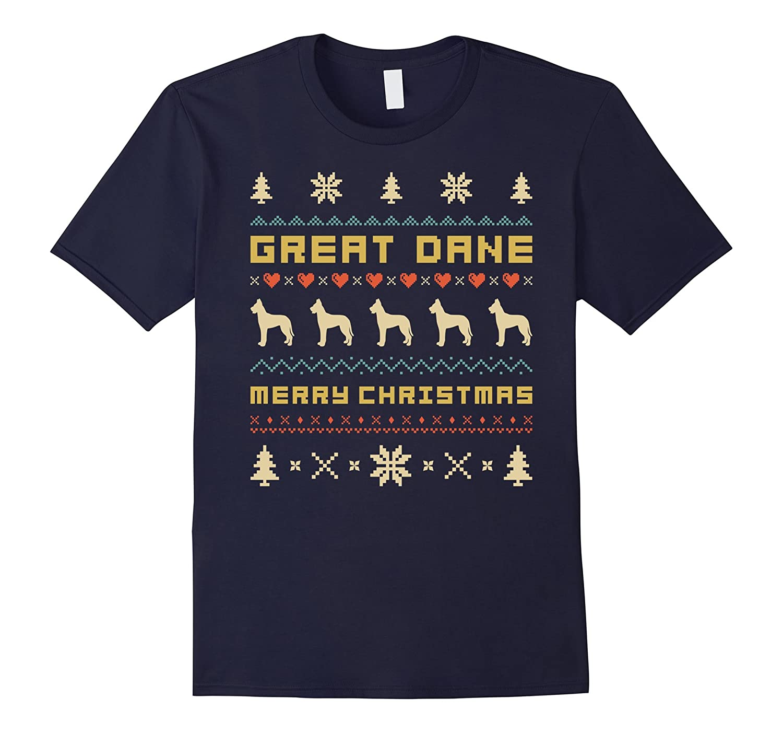 GREAT DANE Christmas T-Shirt, Ugly Christmas Sweater T-shirt-ANZ ...