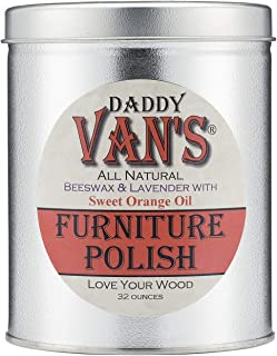 product image for Daddy Van's All Natural Beeswax & Lavender with Sweet Orange Oil Furniture Polish - 32 Ounce Economy Size