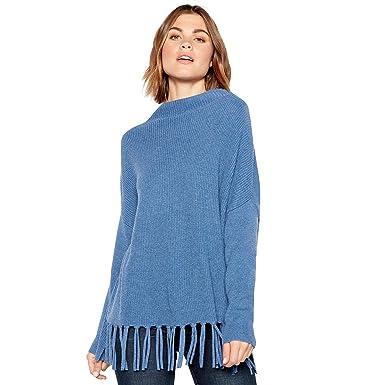 a09ab70c23421b John Rocha Womens Blue Fringed Jumper with Wool 8: RJR.John Rocha: Amazon.co .uk: Clothing