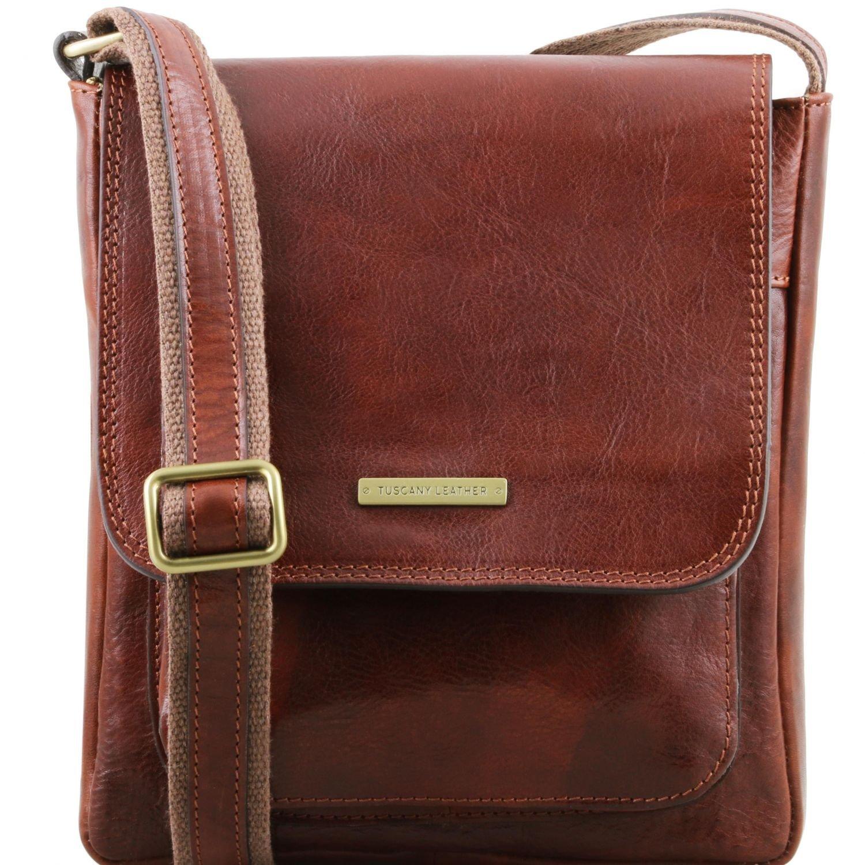 Tuscany Leather - Elégant videpoches en cuir petit modèle - Miel - Homme Lp9RtMxOnm