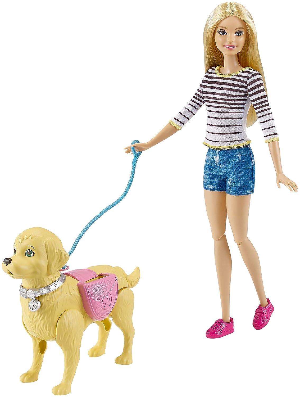 Barbie y su perrito pop/ó mu/ñeca con accesorios Mattel DWJ68