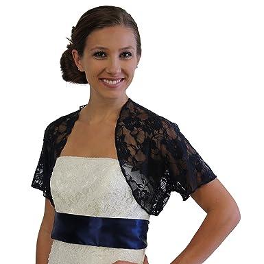 d9303755cab2 Tion Bridal Womens Lace Bolero Jacket with Short Sleeve at Amazon ...