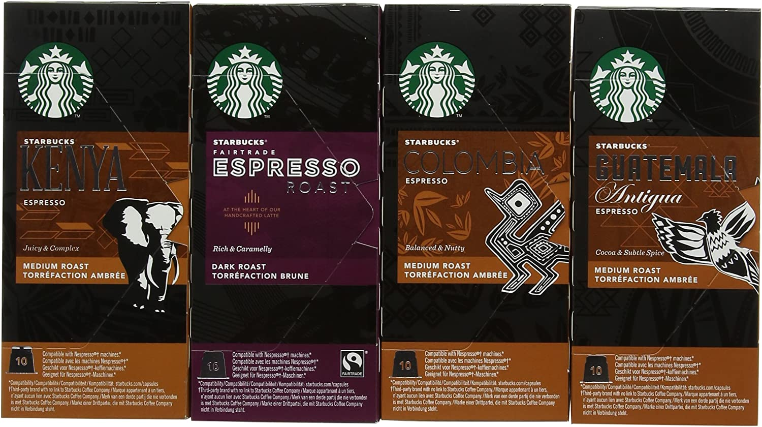 Starbucks Variety Pack Espresso Capsules Nespresso Compatible Pack Of 8 Total 80 Capsules