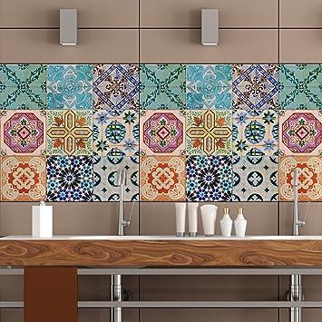 Portugiesische Fliesen Aufkleber-– 16 Stück – Decals Art für Wände ...