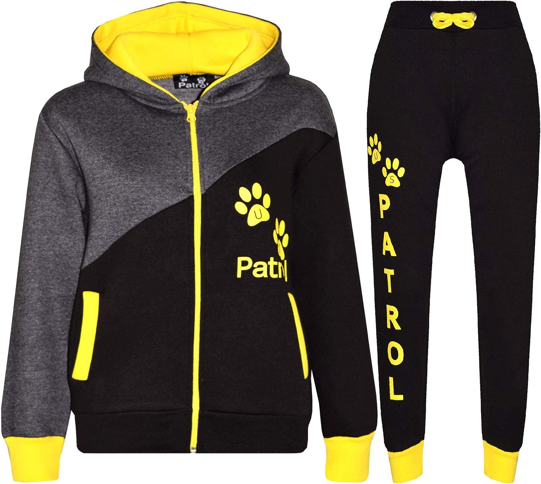 US Patrol - Chándal - Manga Larga - para niño Black Yellow 9-10 ...
