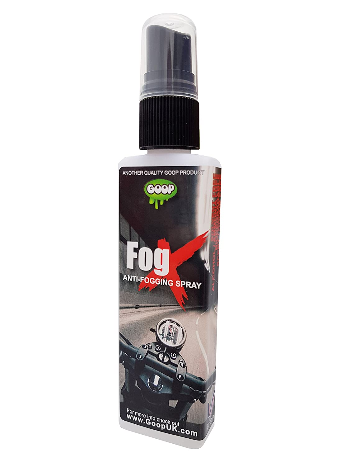 FOGX by Gator Anti-Mist, Anti-Fogging Spray for Helmet Visors / Goggles / Diving Masks / Spectacles / 50ml UK Made Gator UK 78201