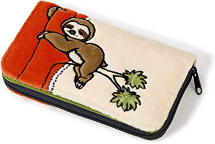 Nici 40532.0 16 x 9.5 cm Wild Friends Wallet Sloth Plush