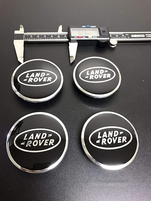 4Pcs SET BLACK /& CHROME CENTER WHEEL HUB CAPS LOGO RIMS Fit for LAND ROVER