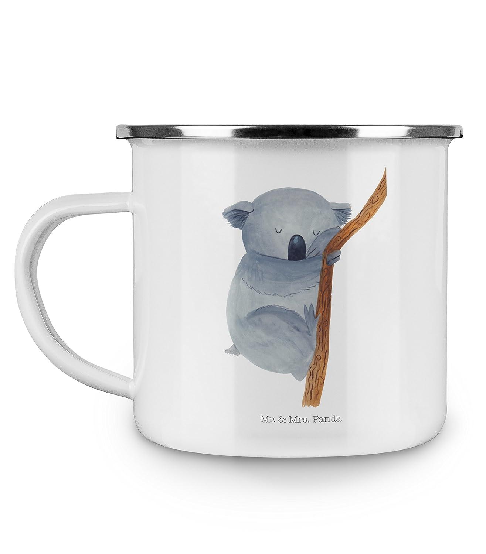 Panda Metall-Tasse bruchsicher Emaille Tasse Koalab/är /& Mrs Farbe Gelb Pastell Mr