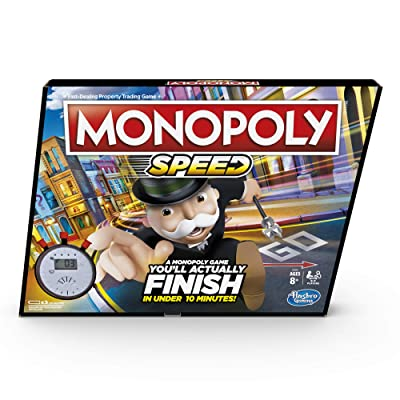 Monopoly Speed - Fast playing Monopoly Board Game, Play time in under 10 min, Game for 2-4 Players - Ages 8 +: Toys & Games