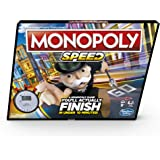Monopoly Speed - Fast Playing Monopoly Board Game, Play Time in Under 10 min, Game for 2-4 Players - Ages 8 +
