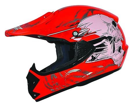 Kids Pro Kinder Crosshelm Rot Größe: XS 53-54cm Kinderhelm Kinder Cross BMX MX Enduro Helm