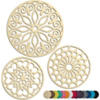 3 Set Silicone Trivet Mats With 1 Extra Large Included   Intricately Carved Insulated Flexible Durable Non Slip Thick…