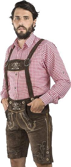 Pantaloni in Pelle Trachten incl Cintura Trachten Pantaloni da Uomo in Pelle Maximilian della Serie Meisterst/ück di Sch/öneberger Trachten