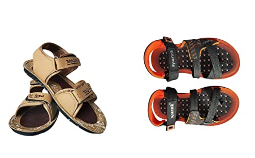 e75a87cbf MYE Men s Air Walk Ranger Synthetic Slingback Multicolor Sandals Floaters  for Men with Velcro Closure- Size 7