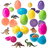 Easter Eggs Filled with Mini Dinosaurs and Mini Dino Egg Stampers
