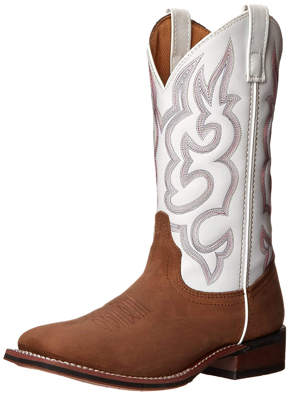 Laredo Women's Mesquite Western Boot B009LM9KOA 6.5 B(M) US|Taupe/White