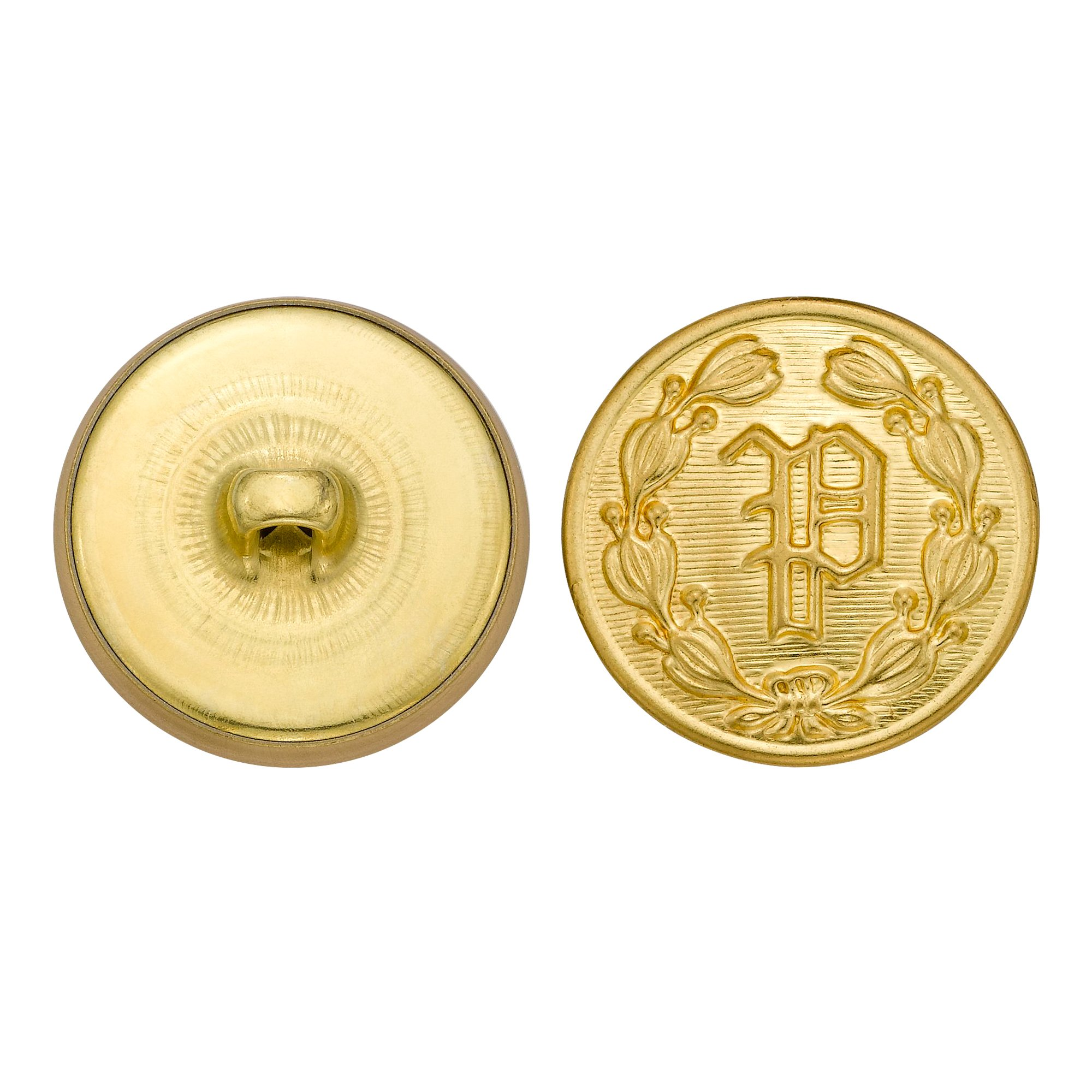 C&C Metal Products 5202 Police P Metal Button, Size 36 Ligne, Gold, 36-Pack by G & S Metal Products Company
