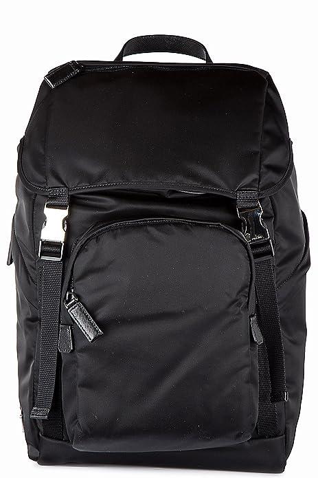 82d4f2e27 Prada mochila bolso de hombre en Nylon nuevo montagn negro: Amazon.es:  Zapatos y complementos