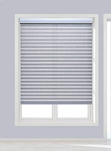 Decor Avenue Custom Cordless 22 3/4 W x 36 to 42 H Crystal Light Filtering Cellular Shade Inside Mount