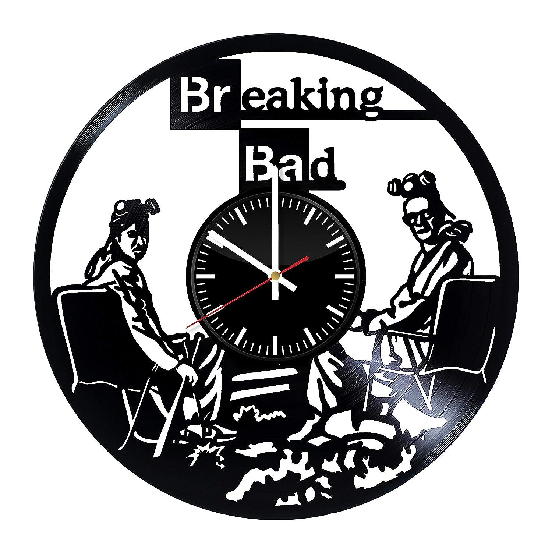 Breaking Bad Vinyl Clock Breaking Bad Wall Art Wall Decor Breaking Bad Wall Clock Vintage Clock Living Room Interior Breaking Bad Original Gift Wall Accessories