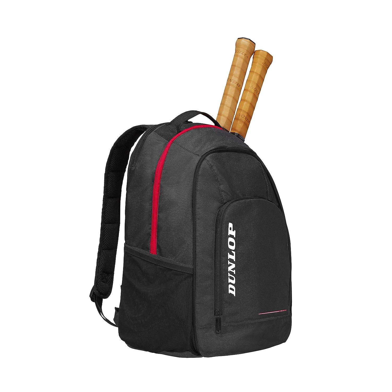 DUNLOP D Tac CX Team Backpack BLK/Red Unisex Adult Tennis Backpack, Black, Red, One Size