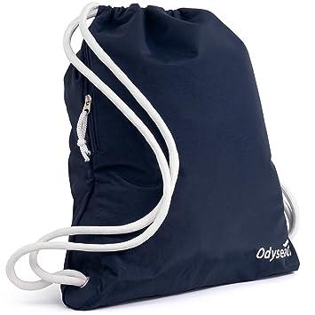 Odyseaco Deluxe Drawstring Gym Bag- Waterproof Swimming Rucksack ...