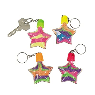 Star Sand Art Bottle Key Chains - Crafts for Kids and Fun Home Activities: Toys & Games