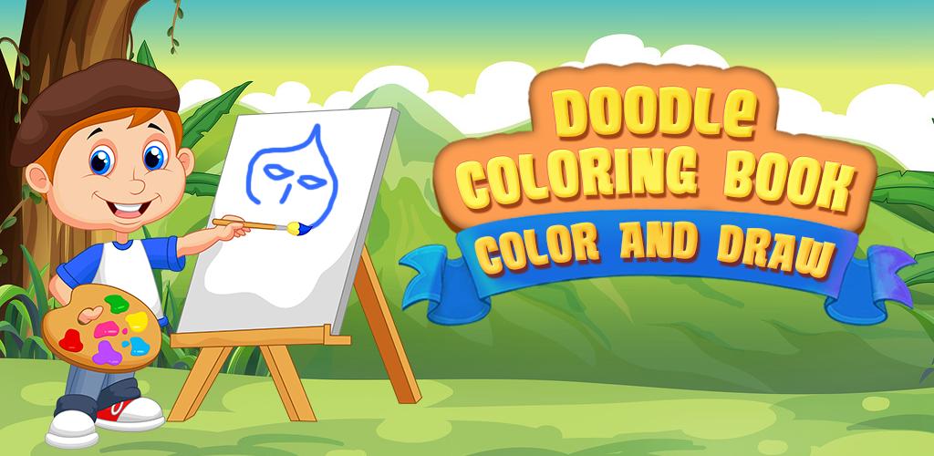 Livro de colorir rabisco Cor e Desenho - Esboce diferentes