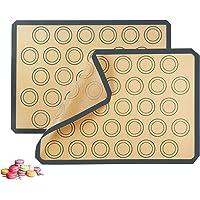 Salandens Tapete de silicona antiadherente para hornear, Lámina de horno para Macaron, Galletas, Pasta, Pizza, Pan…
