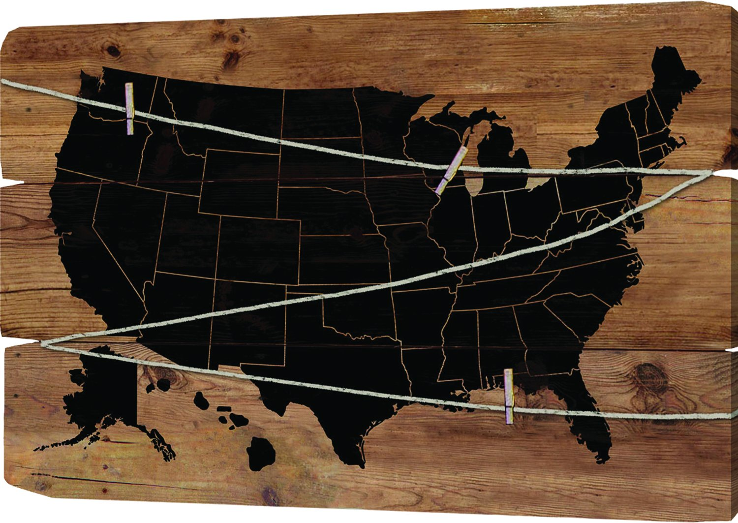 Usa Map Note Board 37.5X23.5X1.5