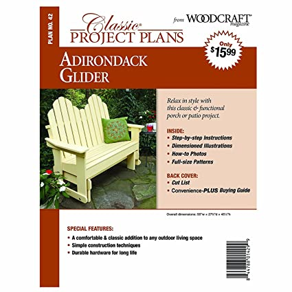 Adirondack Glider - Paper Plan - Woodworking Project Plans