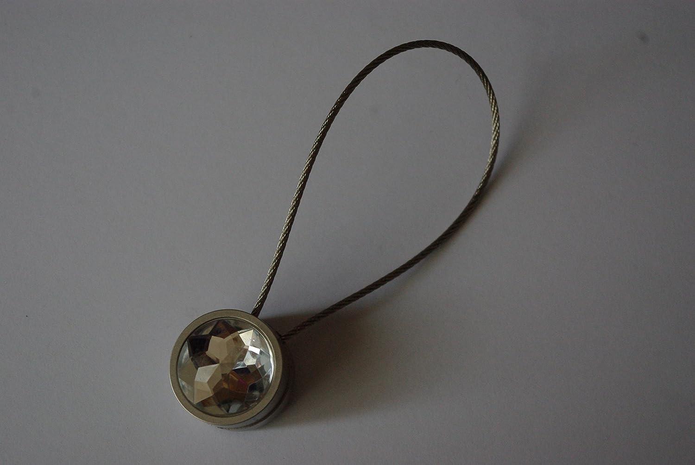 GNTS Clips per Tende - Clip Magnetiche Ø30mm/20cm - Argento