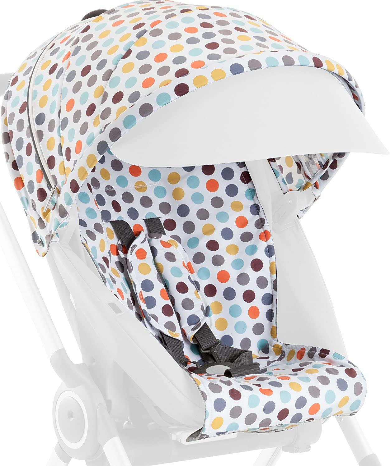 Stokke Scoot Stroller Style Kit - Style your stroller in retro cool - Comes with matching shopping tote - Retro Dots by Stokke