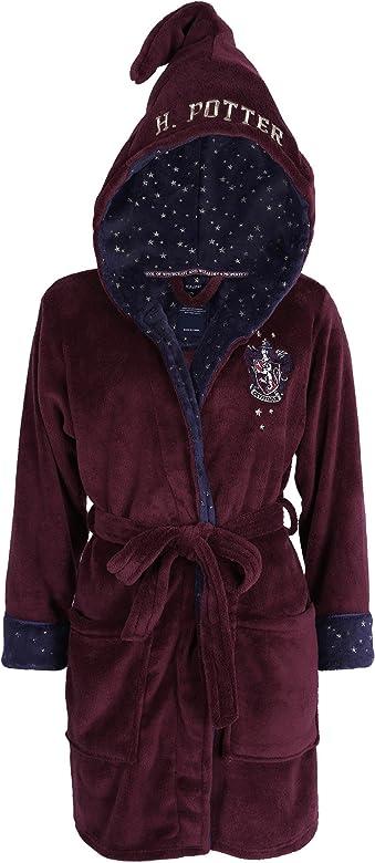 Harry Potter Gryffindor - Albornoz con capucha rojo 46-48: Amazon ...