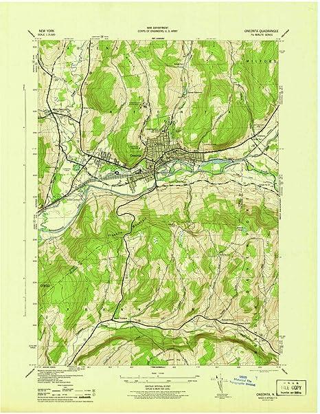 oneonta ny map