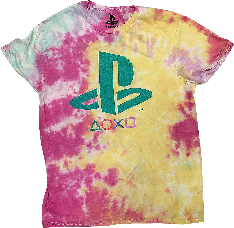 Teal Logo Dye-Tyed Tee Bioworld Playstation