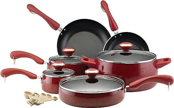 Paula Deen 12512 Signature Nonstick Cookware Pots and Pans Set
