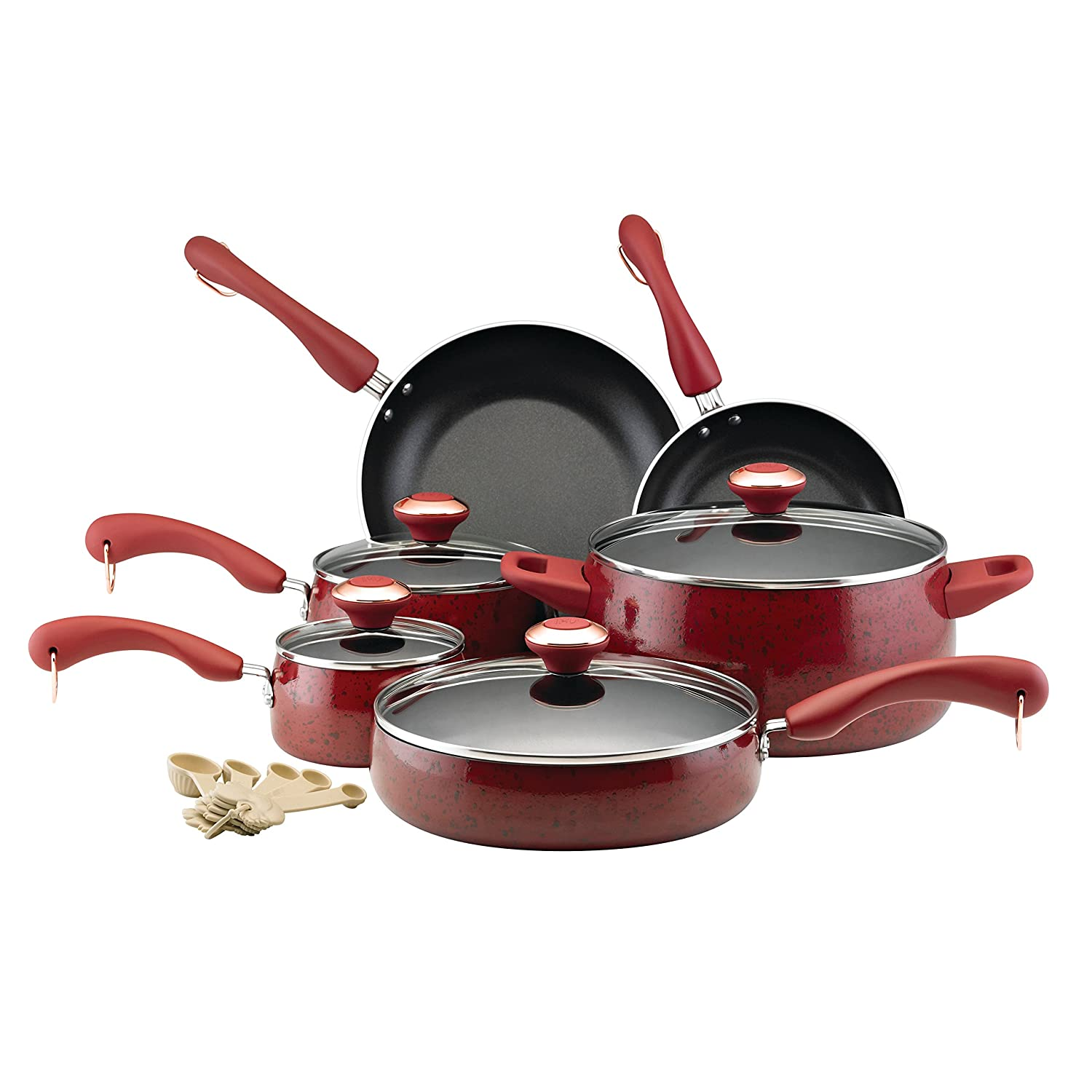 Paula Deen 12512 Signature Nonstick 15-Piece Porcelain Cookware Set Meyer Corporation