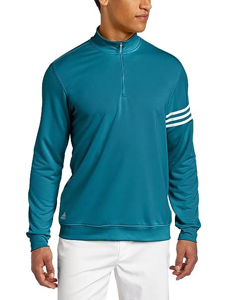 adidas Golf Pantalones de Climalite 3 Rayas Sudadera - 49, Blanco (Marine/White