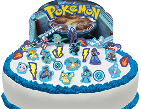Toppershack 29 x decoración para pasteles comestibles PRECORTADAS de Pokémon