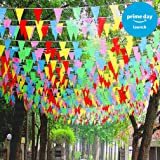 263ft Multicolor Pennant Party Banner Flags 150pcs Outdoor Flags Outdoor Décor Party Decorations for Birthdays Bars Clubs Events Opening Ceremony Wedding Festivals