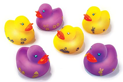 Amazoncom Easter Decorations Light Up Easter Rubber Ducky One Per